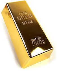 Gold Bullion Doorstop: Amazon.co.uk: Electronics